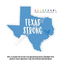 Harvey Relief - KAD Decal - Texas Strong
