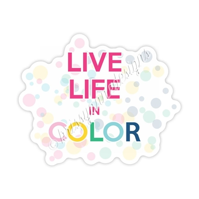 KAD Decal - Live Life in Color