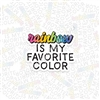 KAD Vinyl Decal - Rainbow Favorite Color