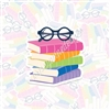 KAD Vinyl Decal - Rainbow Book Stack