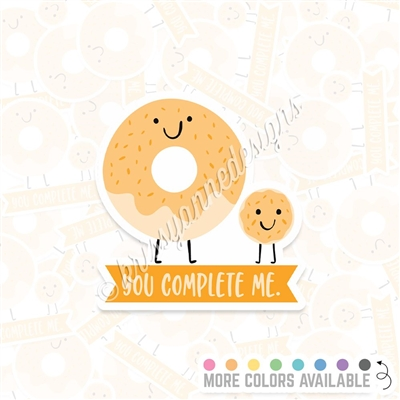 KAD Vinyl Decal - You Complete Me