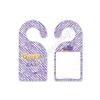 Geaux Wild NOLA Door Hanger - Purple Zebra Geaux Away