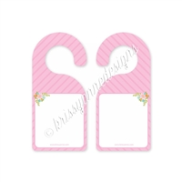 Pink Spring Door Hanger - Write Your Own Message