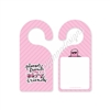 Pink Planner Friends Door Hanger - Write Your Own Message