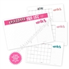 2019 Oversized Calendar Desk Pad