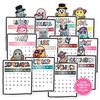 2019 Calendar Diecut Sticker Set