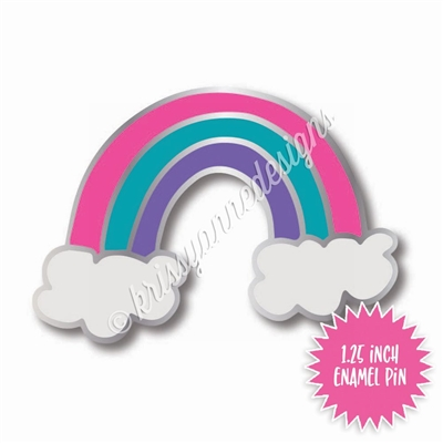 Enamel Flair Pin - Rainbow