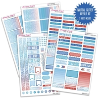 KAD Weekly Planner Kit - Nautical Glitter