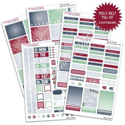 KAD Weekly Planner Kit - Holly Jolly Christmas