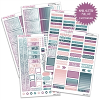 KAD Weekly Planner Kit - April Glitter