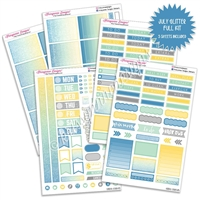 KAD Weekly Planner Kit - July Glitter