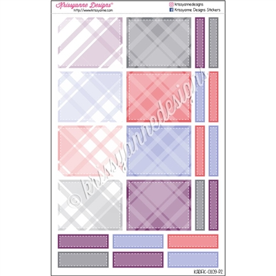 January Plaid Decoration Boxes