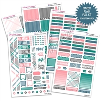 KAD Weekly Planner Kit - March Plaid