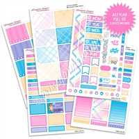 KAD Weekly Planner Kit - July Plaid