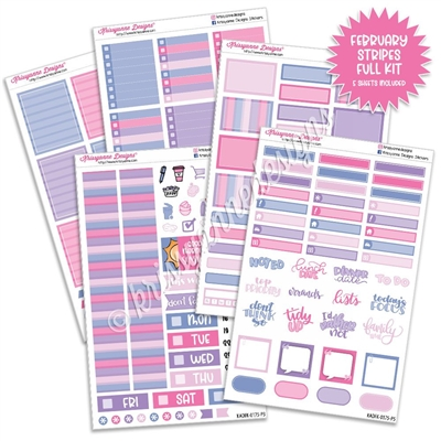 KAD Weekly Planner Kit - 2021 February Stripes