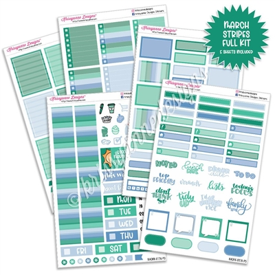 KAD Weekly Planner Kit - 2021 March Stripes