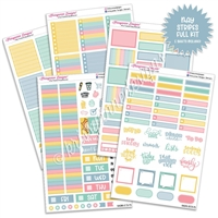 KAD Weekly Planner Kit - 2021 May Stripes
