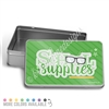 School Supplies Rectangle Gift Tin