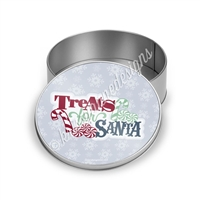 Treats For Santa Round Gift Tin