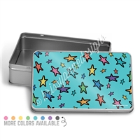 Rectangle Gift Tin - Doodle Stars