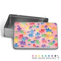 Rectangle Gift Tin - Puzzle Pieces