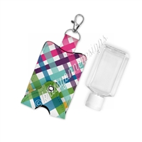 Snap Sanitizer Keychain - Punny Love Plaid