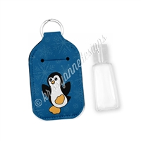 Rectangle Sanitizer Keychain - Winter Penguin