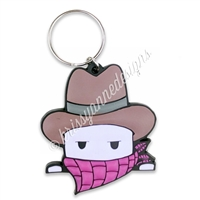 Limited Edition Rubber Keychain - Cowboy Steve