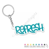 Custom 3-Dimensional Acrylic Keychain - Word of the Year
