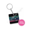 Small Acrylic Keychain - Wild Side Square