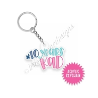 Small Acrylic Keychain - 10 Years of KAD Exclusive