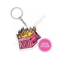 Small Acrylic Keychain - 2020 Dumpster Fire