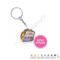 Small Acrylic Keychain - Everything is Fine Steve