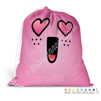 Extra Large Full Color Laundry Bag - Heart Eye Steve