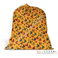 Extra Large Full Color Laundry Bag - Doodle Hearts