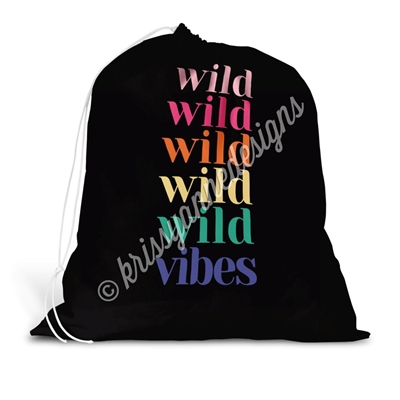Drawstring Laundry Bag - Wild Vibes