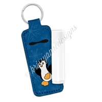 Skinny Lip Balm Keychain - Winter Penguin