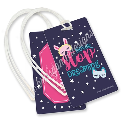 KAD Luggage Tag - Never Stop Dreaming