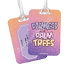 Metal Luggage Tag - Planners & Palm Trees