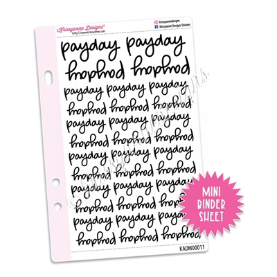 Mini Script Sheet - Payday