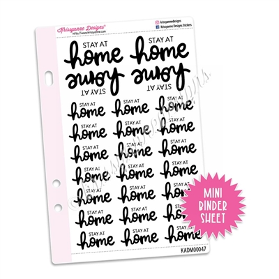 Mini Script Sheet - Stay at Home