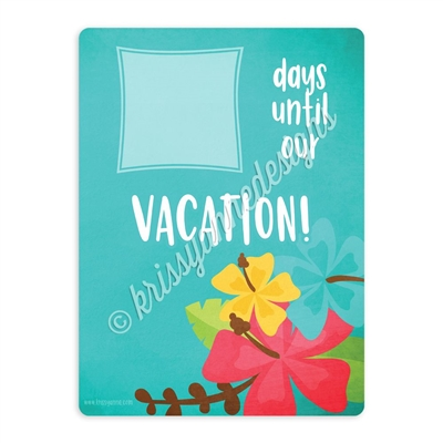 Tropical Vacation Countdown Board - 9x12