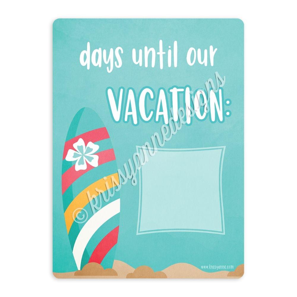 Beach Vacation Countdown Board - 9x12
