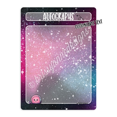 Customizable Galaxy Message Board - 9x12