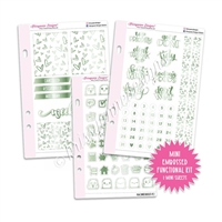 Mini Embossed Functional Kit - Green