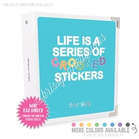 Mini KAD Sticker Binder - Crooked Stickers