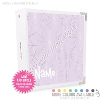 Mini KAD Sticker Binder - Silver Spiderwebs