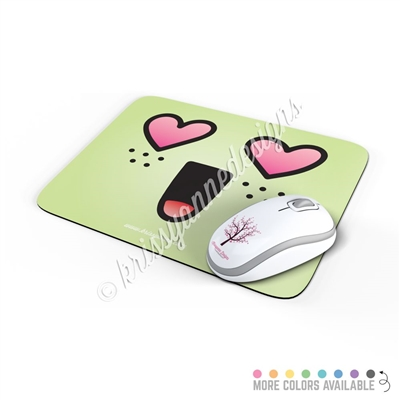 Rectangle Mouse Pad - Heart Eye Steve