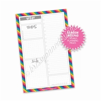 Daily Planning Notepad - Rainbow