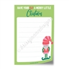 "4x6"" Note Pad - Merry Little Christmas"